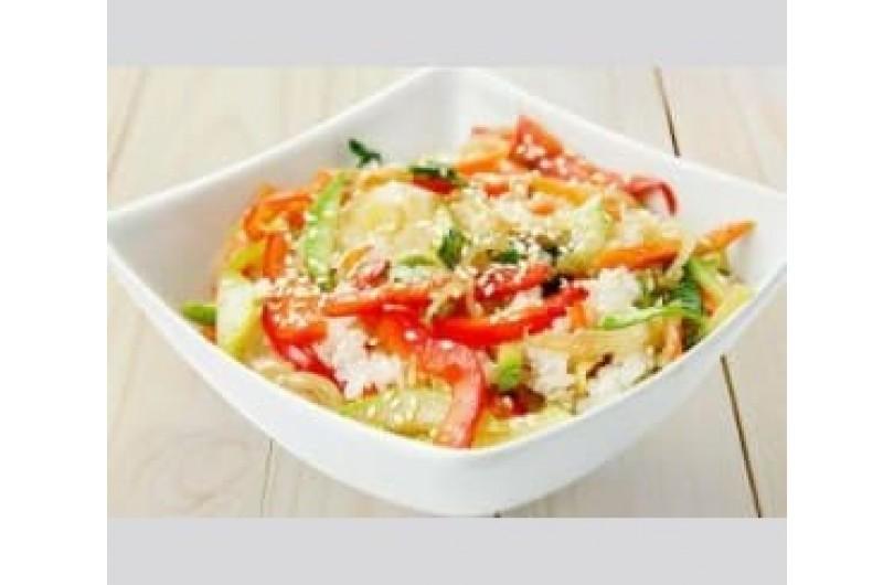 Тайський рис з овочами